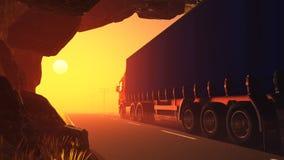 Freight machine Stock Image