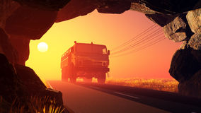 Freight machine Royalty Free Stock Images