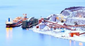 Freight mining ship Royalty Free Stock Image