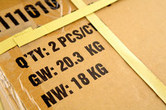 Freight parcel Stock Photography