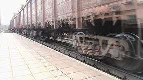 Freight passes by a camera