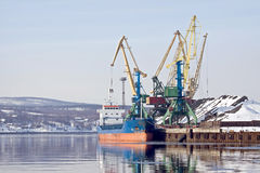Freight port. Murmansk Stock Images
