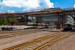 Freight railroad station Royalty Free Stock Photography
