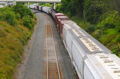 Freight rounding curve Royalty Free Stock Photography