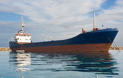 Freight ship. The ship is at anchor Royalty Free Stock Photos