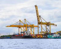 Freight ship with cargo Royalty Free Stock Images
