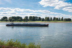 Freight ship on the river rhine Royalty Free Stock Photo