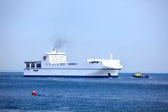 Freight ship at sea Stock Photo