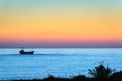 Freight ship in the sea Royalty Free Stock Photography