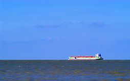 Freight ship at sea. Vessel navigating in the North Sea Stock Images