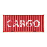 Freight shipping, cargo container Royalty Free Stock Photography