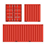 Freight shipping, cargo containers Stock Image