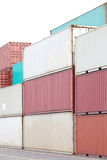 Freight shipping containers Stock Image