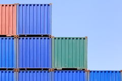 Freight shipping containers Royalty Free Stock Photo