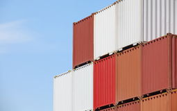 Freight shipping containers Royalty Free Stock Image