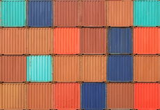 Freight shipping containers Stock Photos