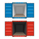 Freight shipping, open cargo containers Royalty Free Stock Photo