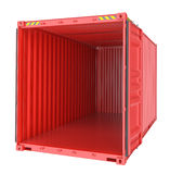 Freight shipping, open empty cargo container Stock Photography