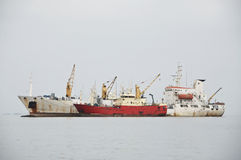Freight Ships Stock Image