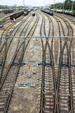 Freight Station with trains Royalty Free Stock Image