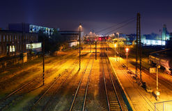Freight Station with trains - Cargo transportation Royalty Free Stock Images
