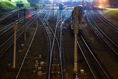 Freight Station with trains - Cargo transportation Stock Photos