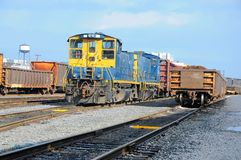 Freight Station with trains, train cargo. CSX train on the station of Baltimore, USA Stock Photography