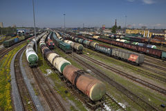 Free Freight Station With Trains, Russian Railway. Stock Photo - 54652570