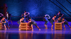 """Freight terminal-Dance drama """"The Dream of Maritime Silk Road"""" Stock Photography"""