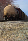 Freight train. Rear car shown royalty free stock image