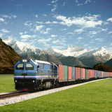 Freight Train Royalty Free Stock Photography