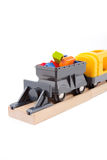 Freight train. With plastic blocks Royalty Free Stock Photo