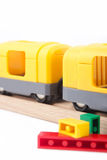 Freight train. With plastic blocks Royalty Free Stock Photography