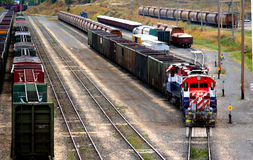 Freight Train. A train yard Royalty Free Stock Photos
