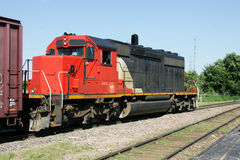 Freight Train. A Red and Black Freight Train Stock Photos