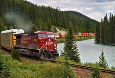 Canada, Train Banff National Park, Landscape Stock Photography