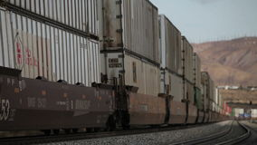 Freight train stock video