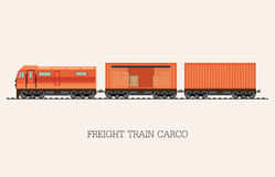 Freight train cargo cars  on background. Stock Photography