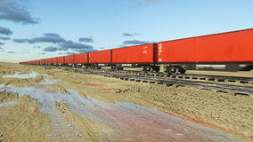 Freight train with cargo containers. Logystic concept. 3d rendering. Freight train with cargo containers. Logystic concept. 3d rendering Stock Photos