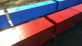 Freight train with cargo containers. Logystic concept. Realistic cinematic 4k animation. stock video footage