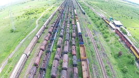 Freight trains stock video