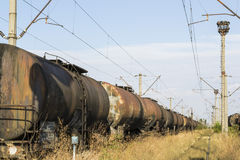 Freight train cars Royalty Free Stock Photography