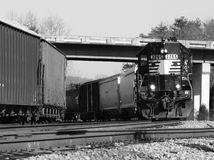 Freight Train on a Curve 2 Royalty Free Stock Photo