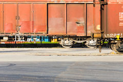 Freight train departing Stock Photos
