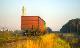 Freight train at evening Royalty Free Stock Images