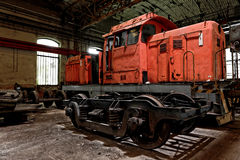 Freight train in garage Royalty Free Stock Photos