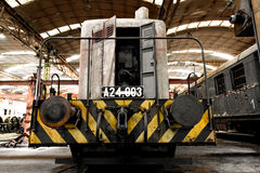 Freight train in garage Stock Photography