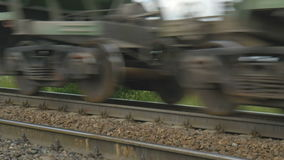 The freight train goes on rails. stock video footage