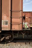 Freight Train with Graffiti Stock Image
