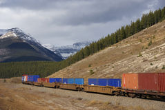 Freight train hauling Stock Photography